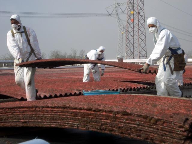 Rimozione amianto tetti