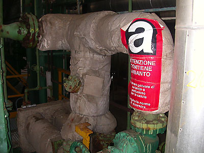 Rimozione amianto tubazioni